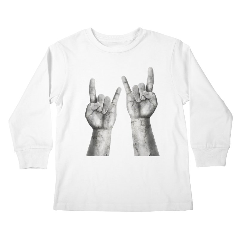 Rock Hands Kids Longsleeve T-Shirt by steveash's Artist Shop