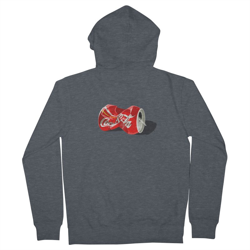 Crushed Men's French Terry Zip-Up Hoody by steveash's Artist Shop