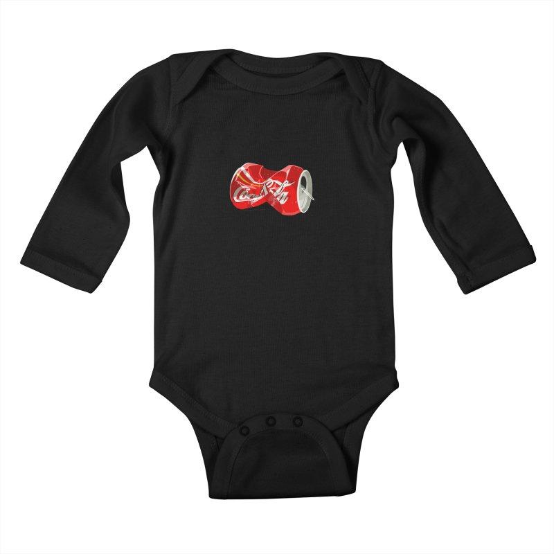 Crushed Kids Baby Longsleeve Bodysuit by steveash's Artist Shop
