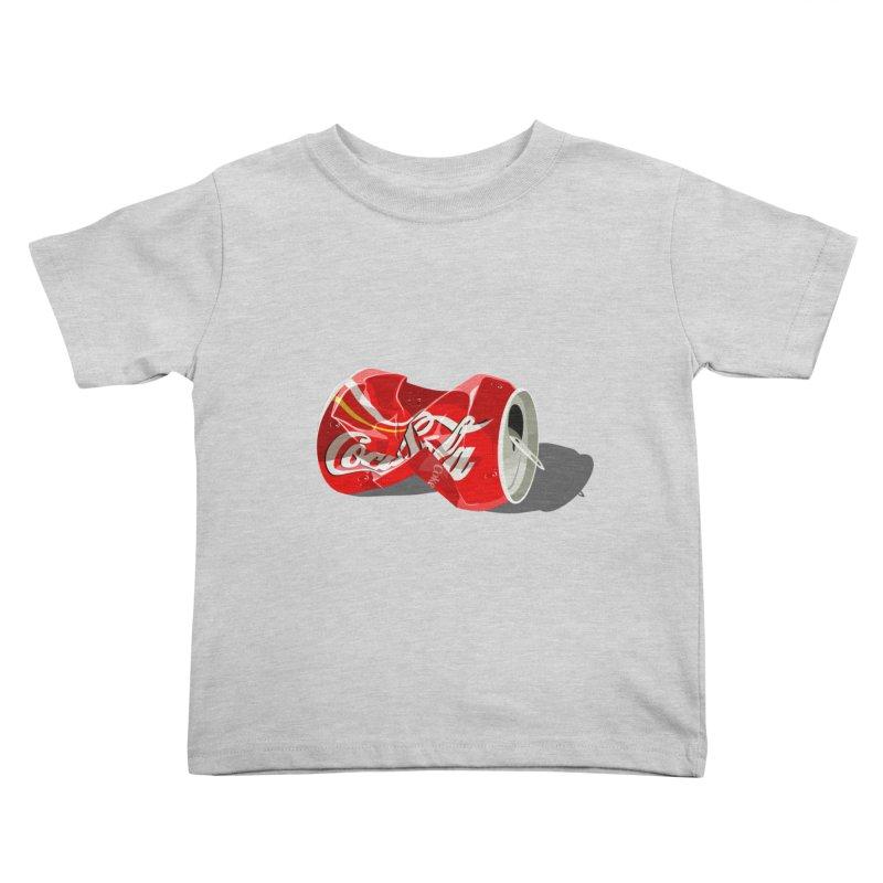 Crushed Kids Toddler T-Shirt by steveash's Artist Shop