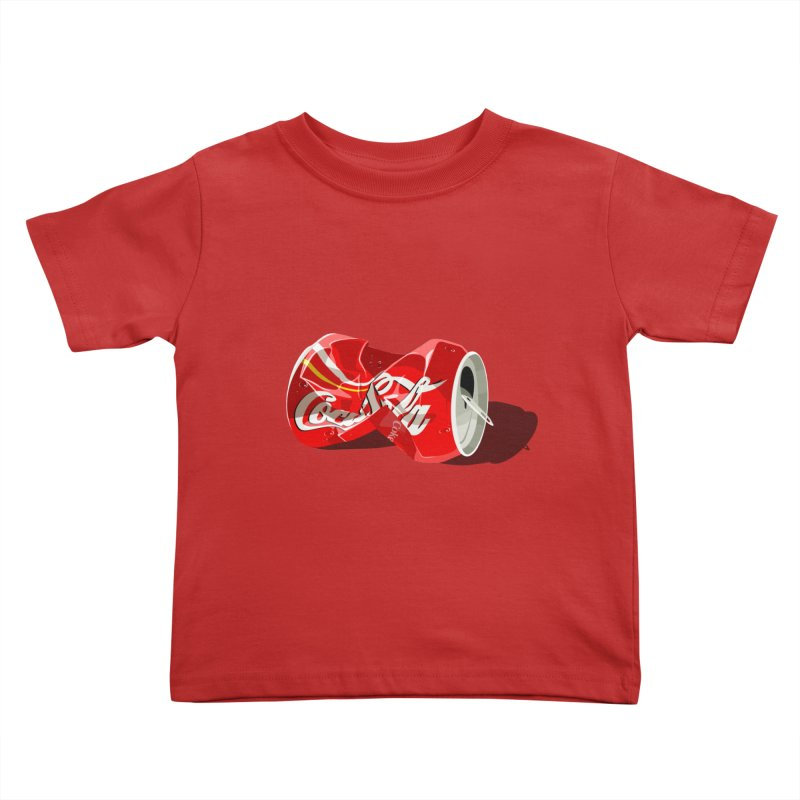 Crushed Kids Toddler T-Shirt by steveash's Artist Shop