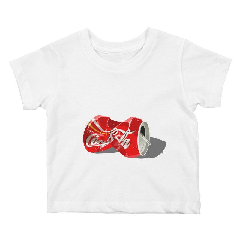Crushed Kids Baby T-Shirt by steveash's Artist Shop