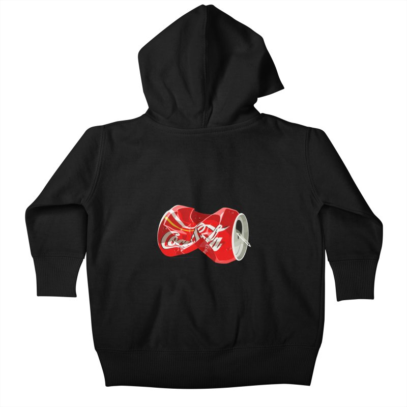Crushed Kids Baby Zip-Up Hoody by steveash's Artist Shop