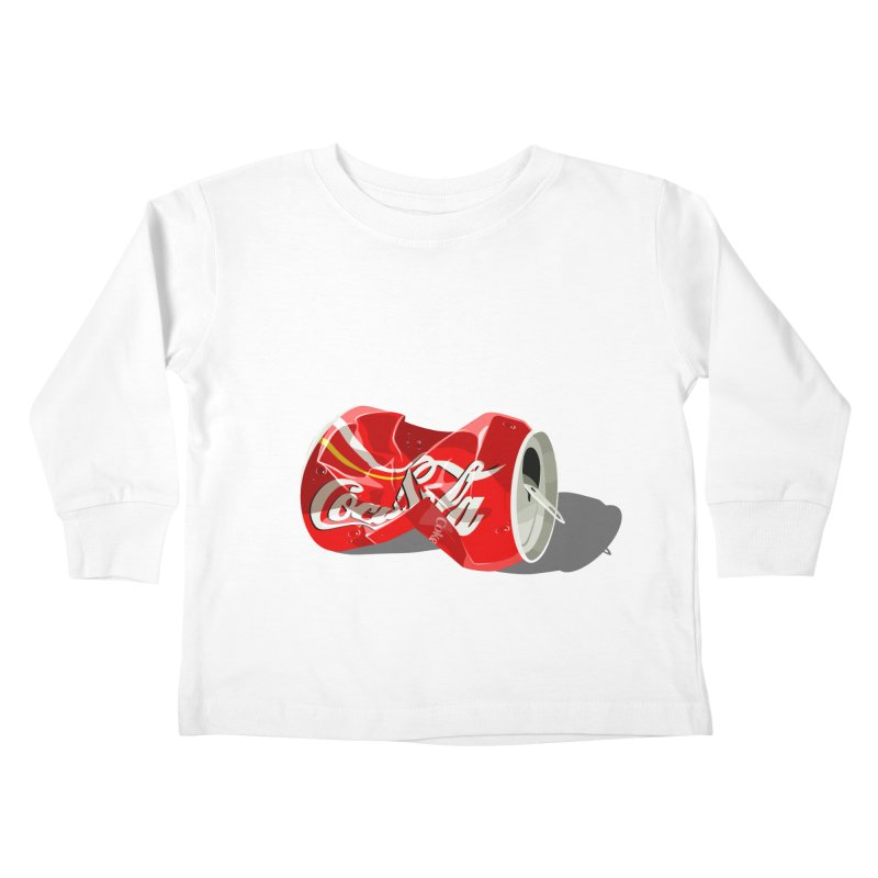 Crushed Kids Toddler Longsleeve T-Shirt by steveash's Artist Shop