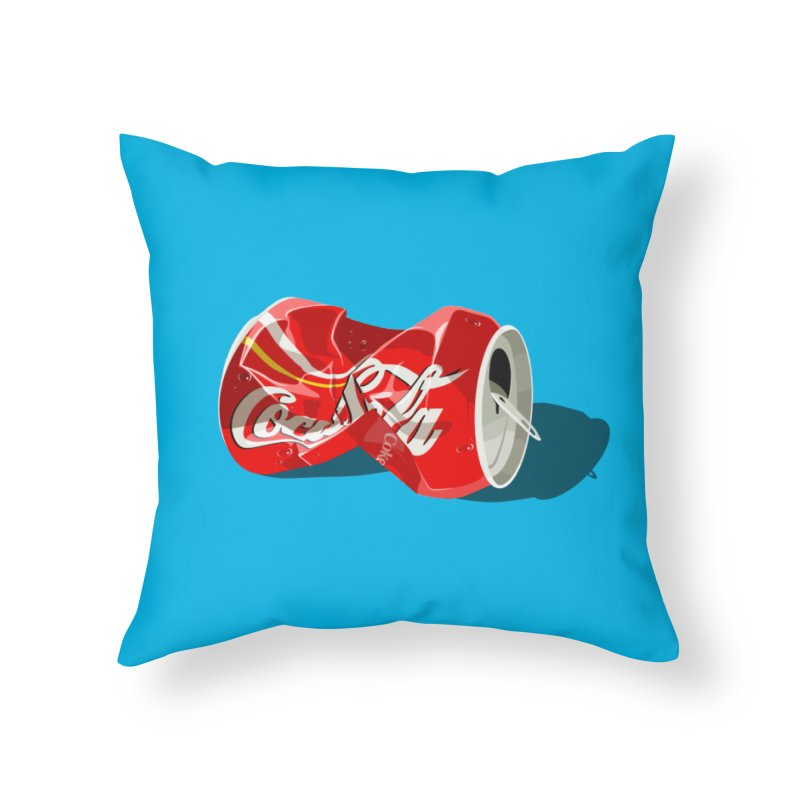 Crushed Home Throw Pillow by steveash's Artist Shop