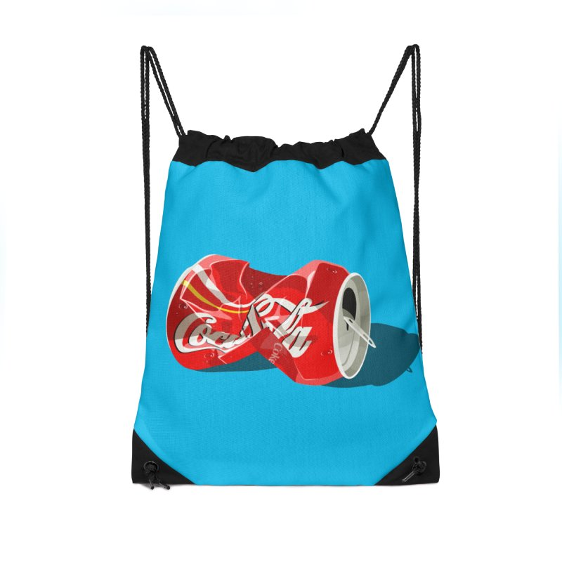 Crushed Accessories Drawstring Bag Bag by steveash's Artist Shop