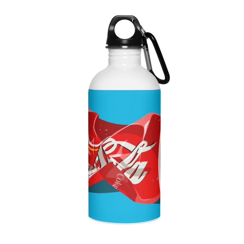 Crushed Accessories Water Bottle by steveash's Artist Shop