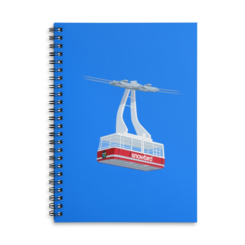 Snowbird Accessories Lined Spiral Notebook by steveash's Artist Shop