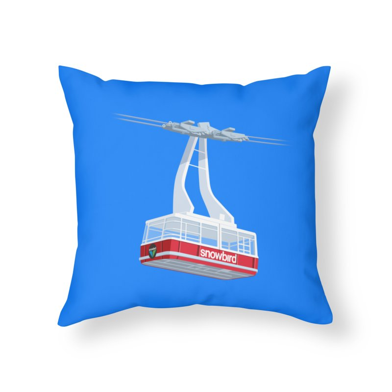 Snowbird Home Throw Pillow by steveash's Artist Shop