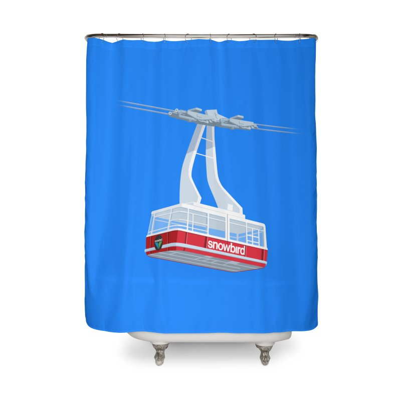 Snowbird Home Shower Curtain by steveash's Artist Shop