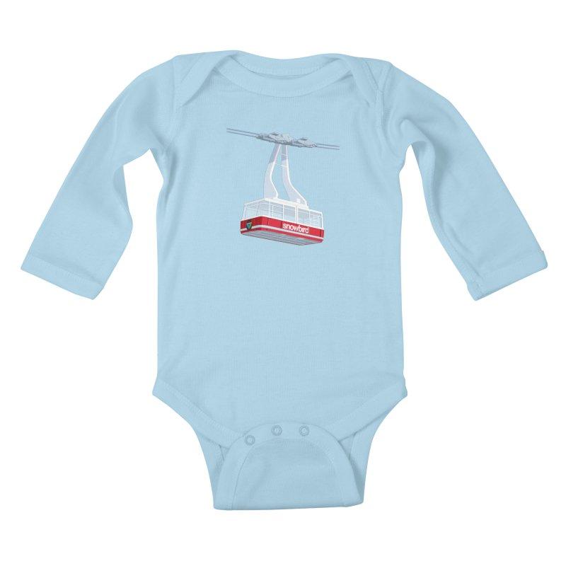Snowbird Kids Baby Longsleeve Bodysuit by steveash's Artist Shop