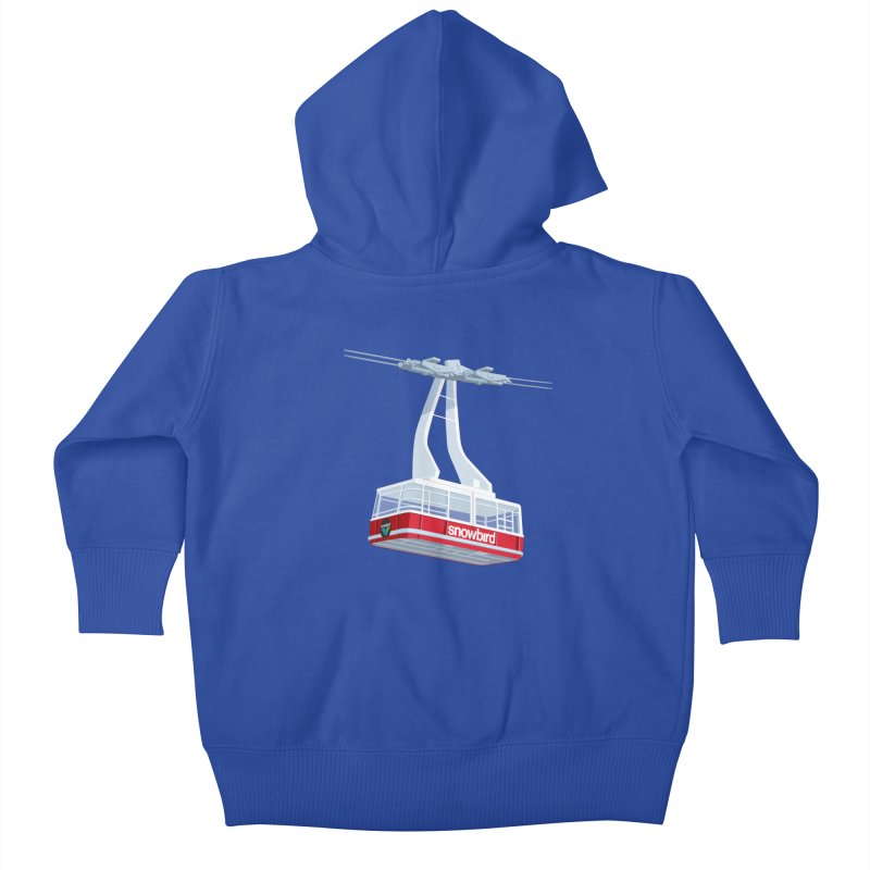 Snowbird Kids Baby Zip-Up Hoody by steveash's Artist Shop