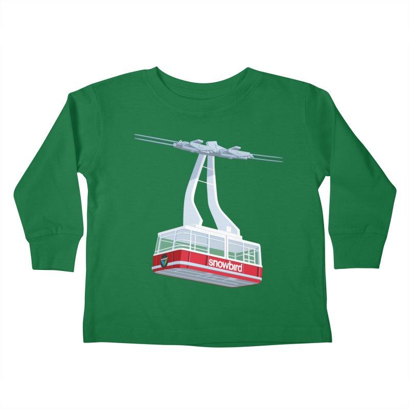 Snowbird Kids Toddler Longsleeve T-Shirt by steveash's Artist Shop