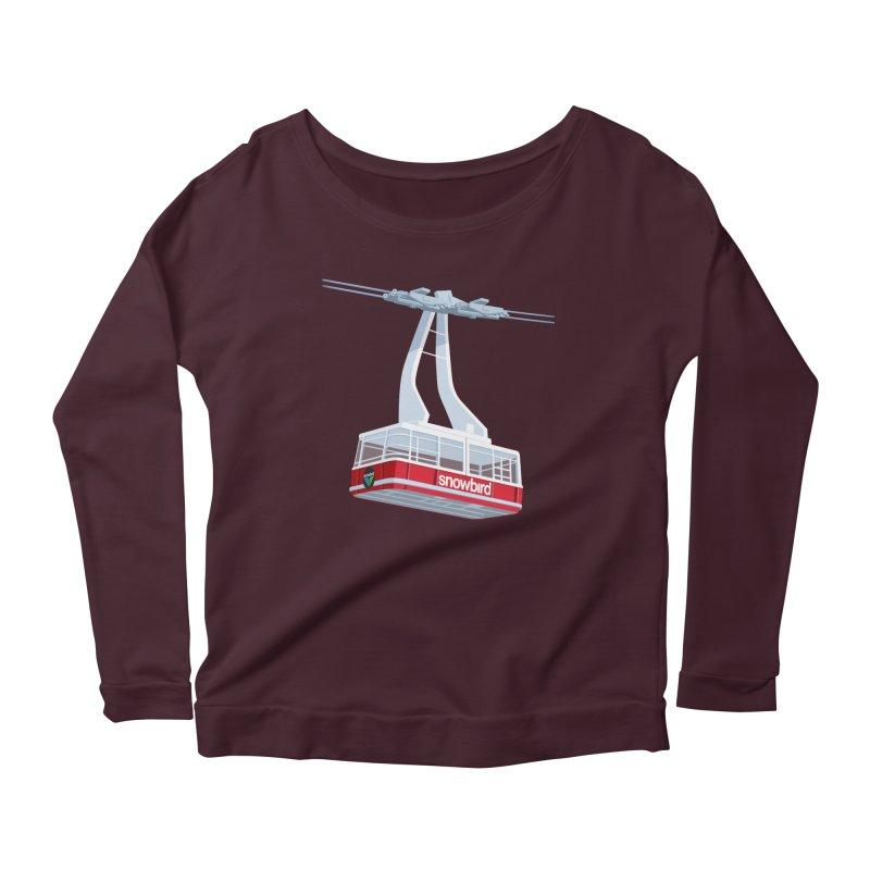 Snowbird Women's Scoop Neck Longsleeve T-Shirt by steveash's Artist Shop