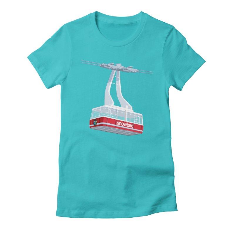 Snowbird Women's Fitted T-Shirt by steveash's Artist Shop