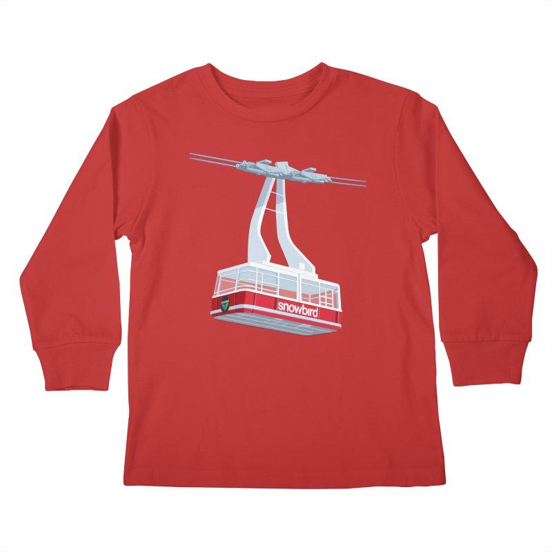 Snowbird Kids Longsleeve T-Shirt by steveash's Artist Shop