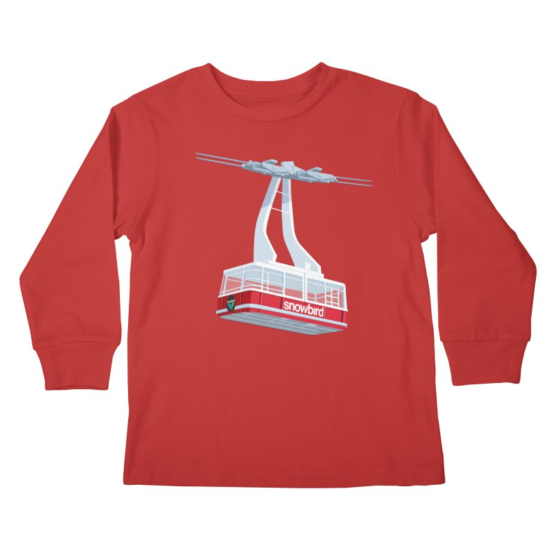 Snowbird Kids Longsleeve T-Shirt by steveash's Artist Shop