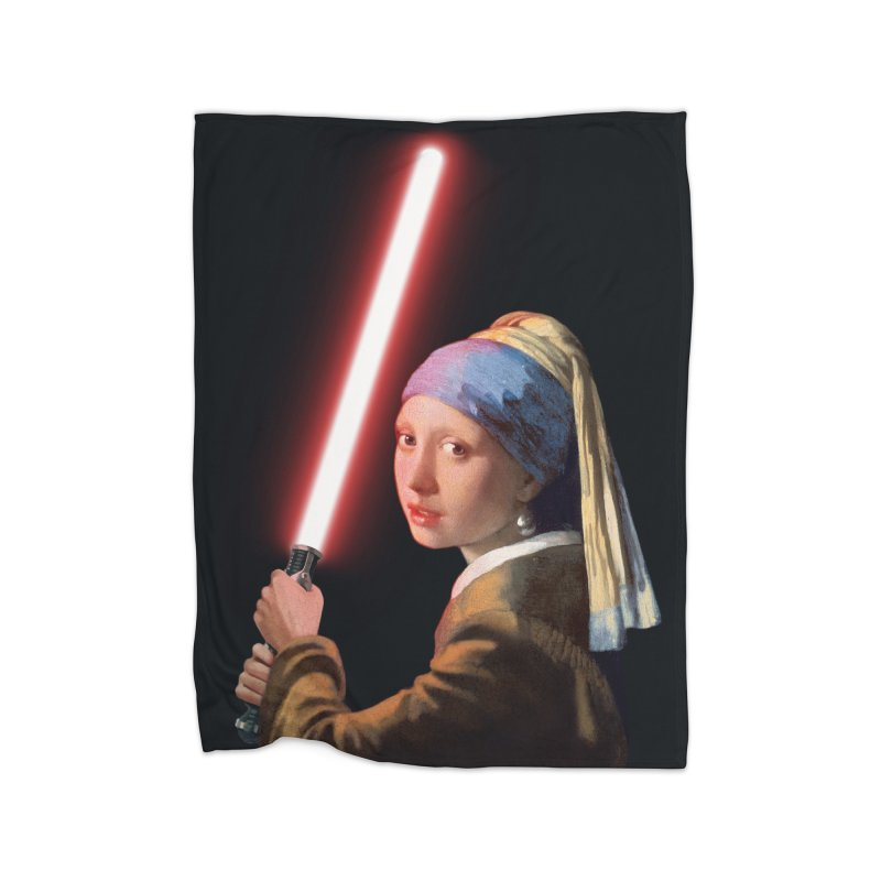 Girl with the Lightsaber Home Fleece Blanket Blanket by steveash's Artist Shop