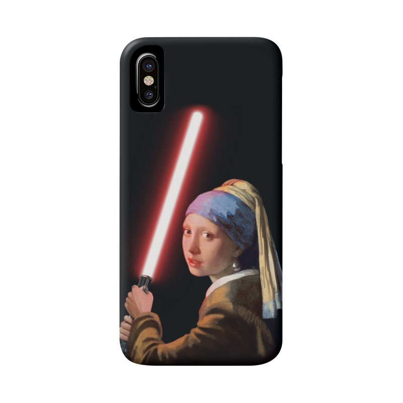 Girl with the Lightsaber Accessories Phone Case by steveash's Artist Shop