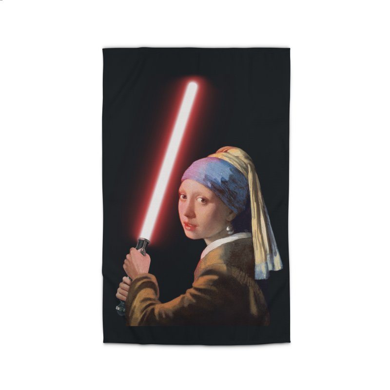 Girl with the Lightsaber Home Rug by steveash's Artist Shop