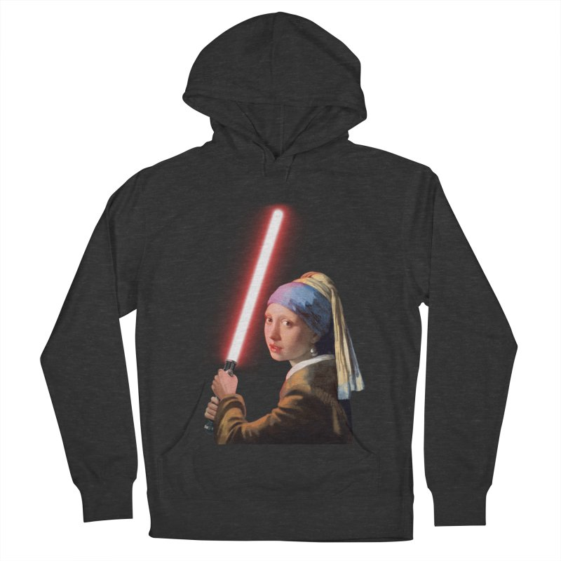 Girl with the Lightsaber Men's French Terry Pullover Hoody by steveash's Artist Shop
