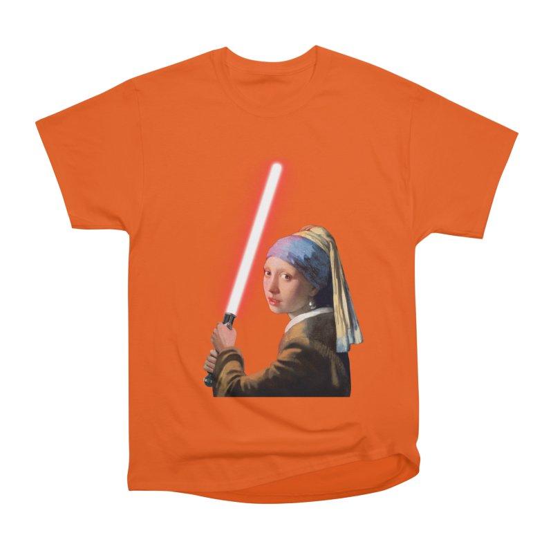 Girl with the Lightsaber Men's Classic T-Shirt by steveash's Artist Shop