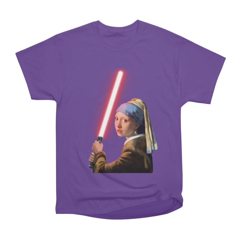 Girl with the Lightsaber Men's Heavyweight T-Shirt by steveash's Artist Shop