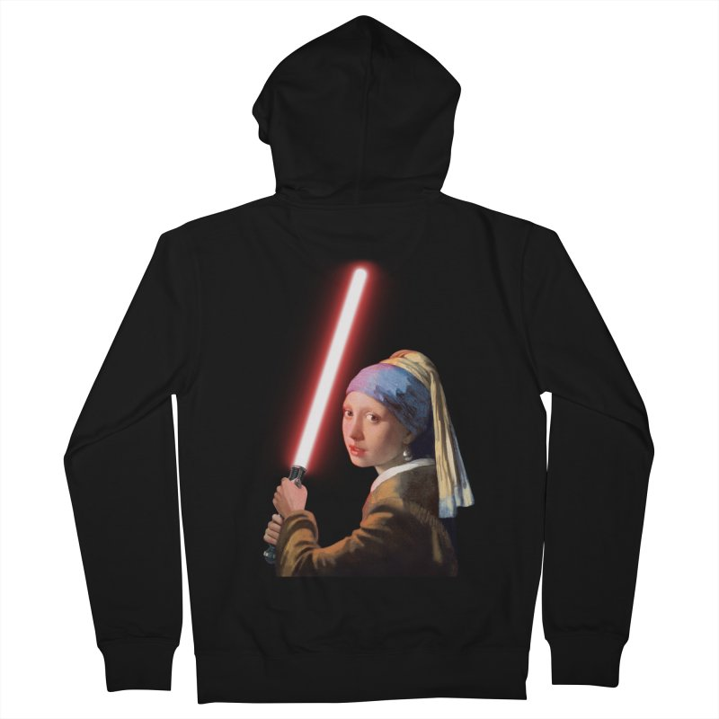 Girl with the Lightsaber Men's French Terry Zip-Up Hoody by steveash's Artist Shop