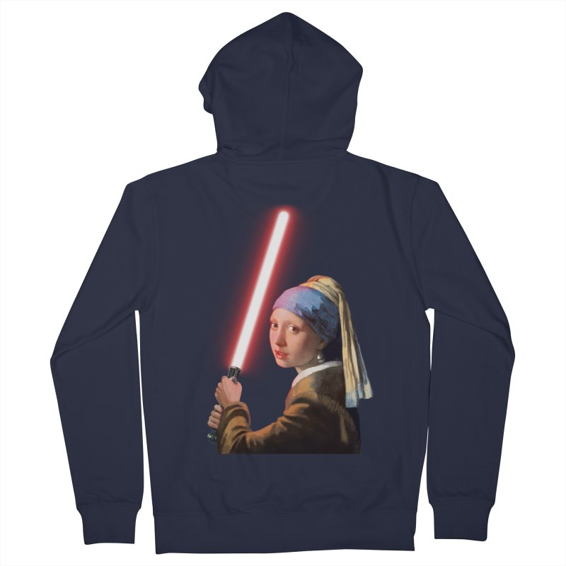 Girl with the Lightsaber Men's Zip-Up Hoody by steveash's Artist Shop