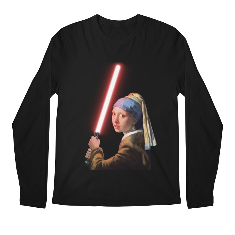 Girl with the Lightsaber Men's Longsleeve T-Shirt by steveash's Artist Shop