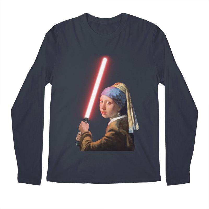 Girl with the Lightsaber Men's Regular Longsleeve T-Shirt by steveash's Artist Shop
