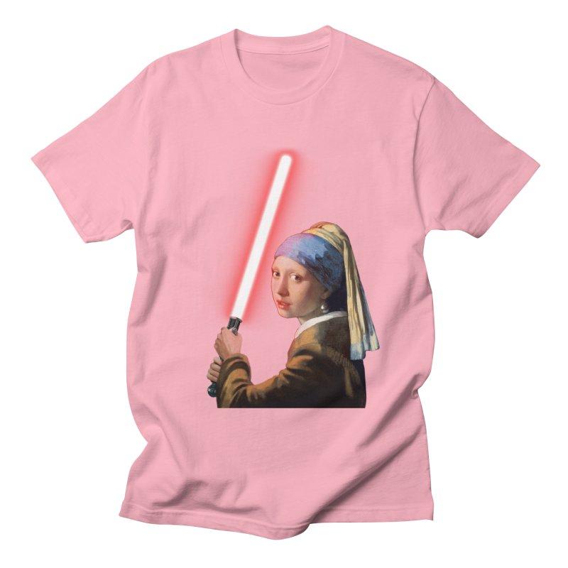 Girl with the Lightsaber Men's Regular T-Shirt by steveash's Artist Shop