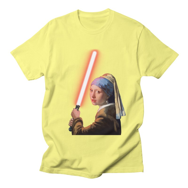 Girl with the Lightsaber Men's T-Shirt by steveash's Artist Shop