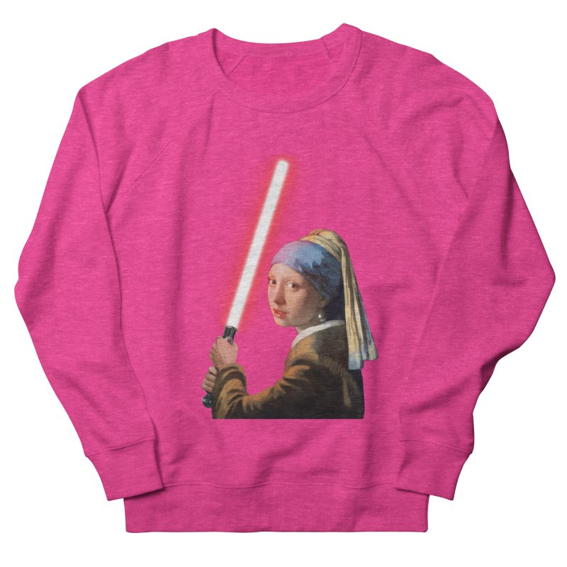 Girl with the Lightsaber Men's French Terry Sweatshirt by steveash's Artist Shop