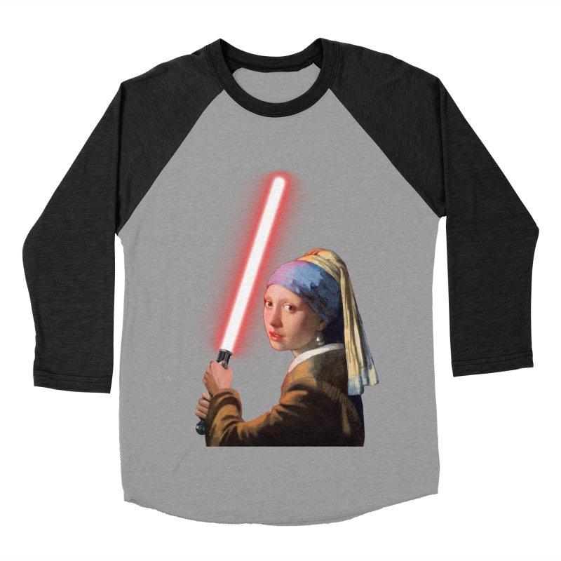 Girl with the Lightsaber Men's Baseball Triblend T-Shirt by steveash's Artist Shop