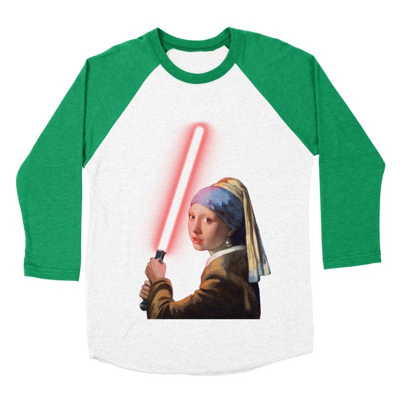 Girl with the Lightsaber Men's Baseball Triblend Longsleeve T-Shirt by steveash's Artist Shop