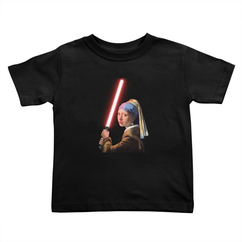 Girl with the Lightsaber Kids Toddler T-Shirt by steveash's Artist Shop
