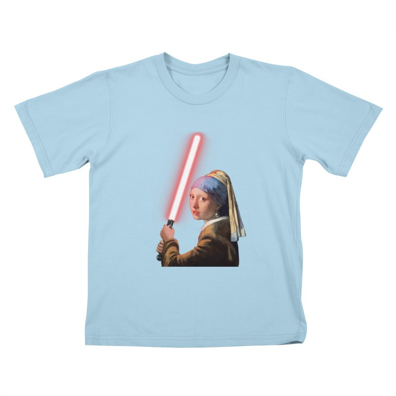 Girl with the Lightsaber Kids T-Shirt by steveash's Artist Shop
