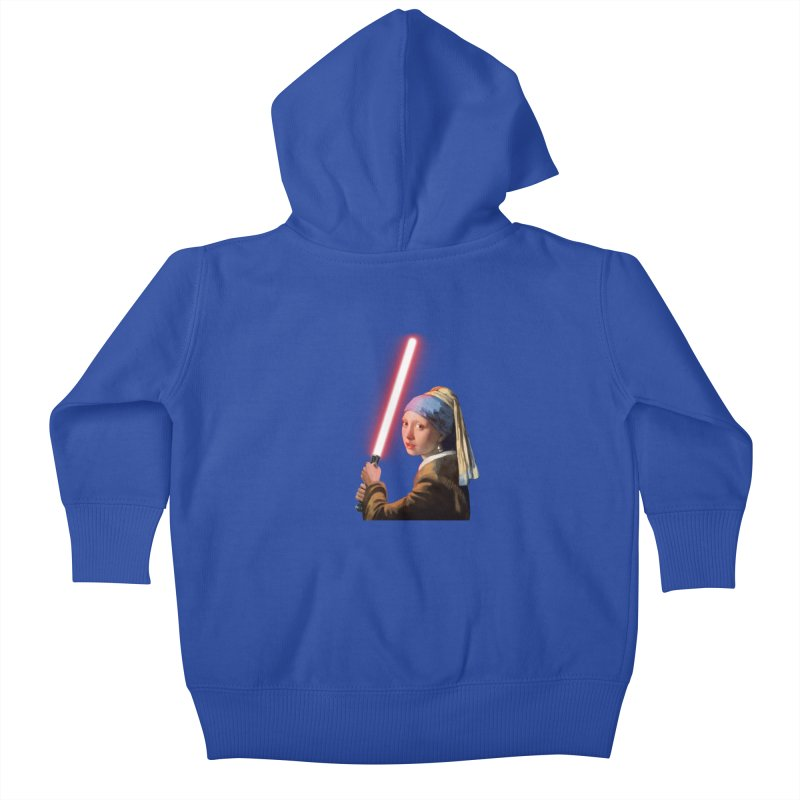 Girl with the Lightsaber Kids Baby Zip-Up Hoody by steveash's Artist Shop
