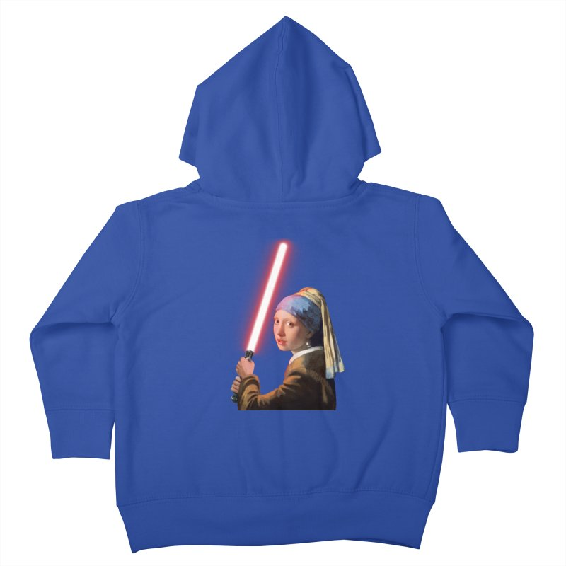 Girl with the Lightsaber Kids Toddler Zip-Up Hoody by steveash's Artist Shop