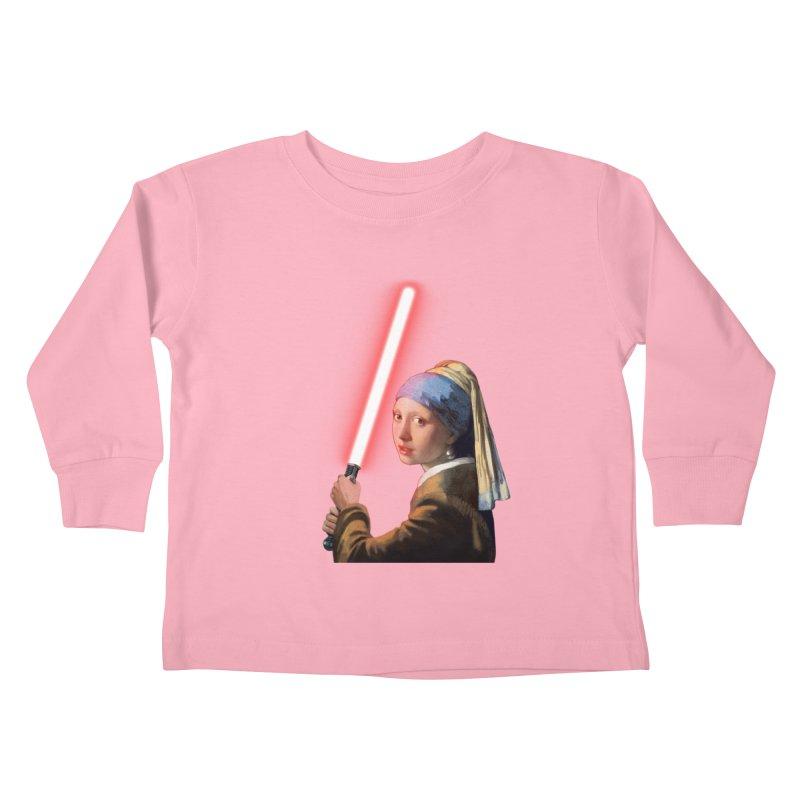 Girl with the Lightsaber Kids Toddler Longsleeve T-Shirt by steveash's Artist Shop