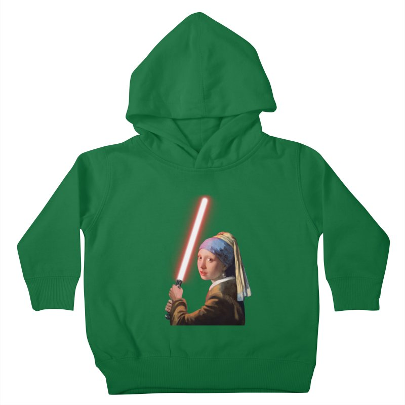 Girl with the Lightsaber Kids Toddler Pullover Hoody by steveash's Artist Shop