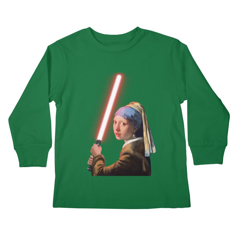 Girl with the Lightsaber Kids Longsleeve T-Shirt by steveash's Artist Shop
