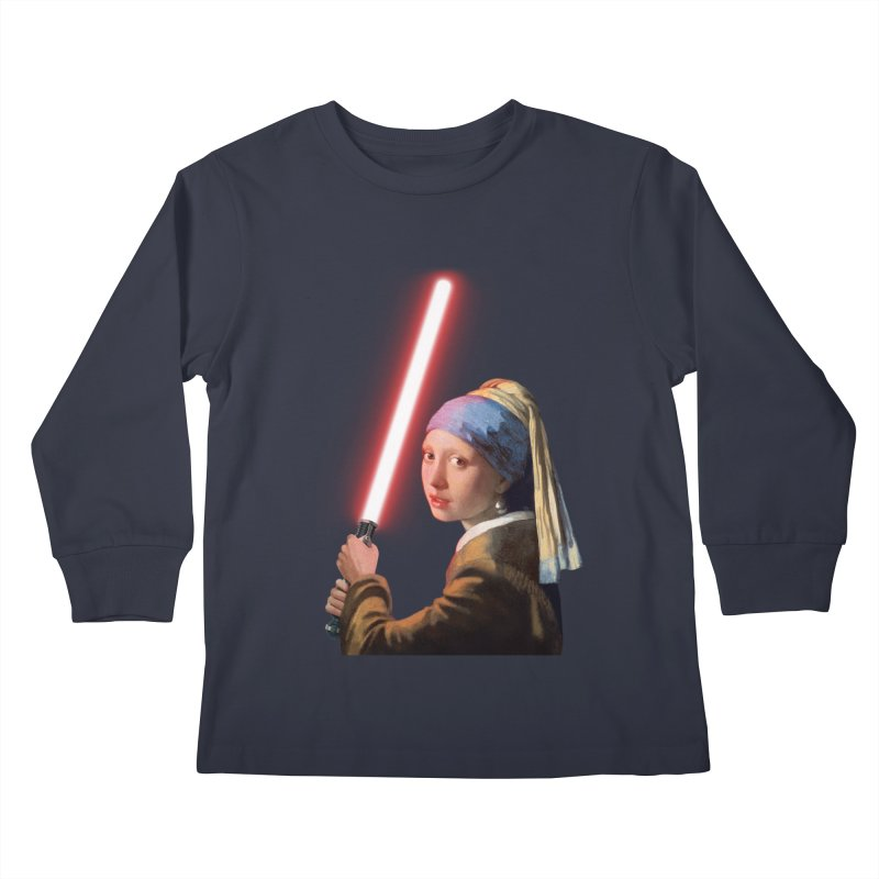 Girl with the Lightsaber Kids Longsleeve T-Shirt by steveash's Artist Shop
