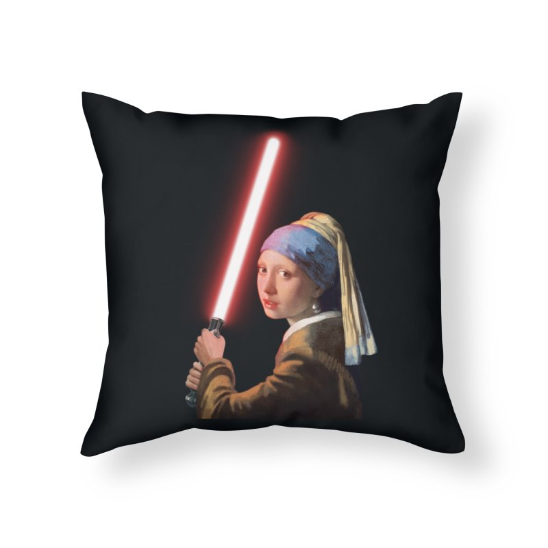 Girl with the Lightsaber Home Throw Pillow by steveash's Artist Shop