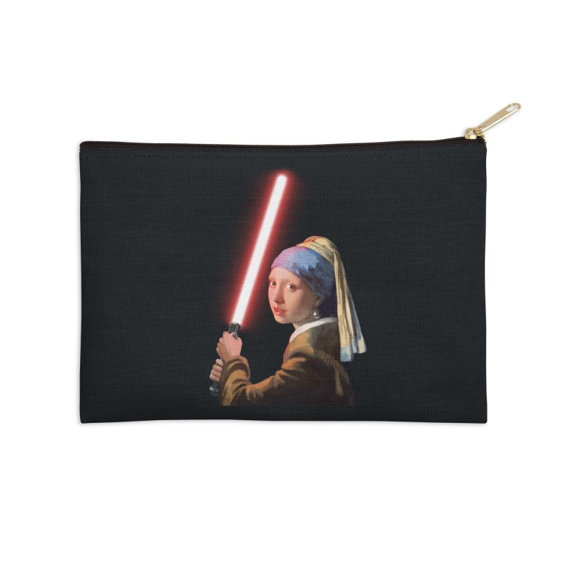 Girl with the Lightsaber Accessories Zip Pouch by steveash's Artist Shop