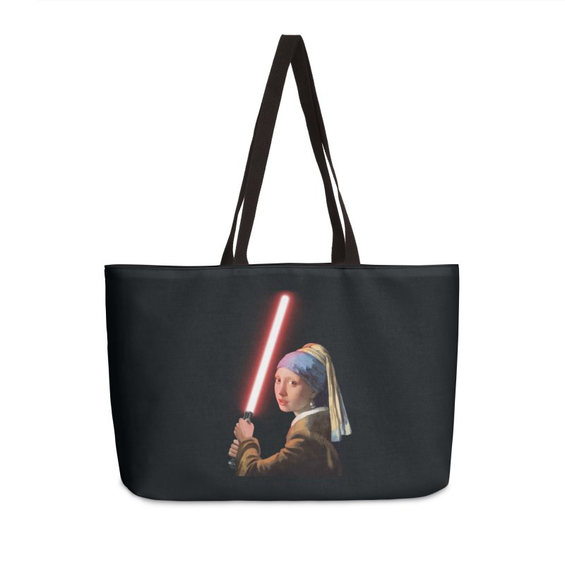 Girl with the Lightsaber Accessories Weekender Bag Bag by steveash's Artist Shop