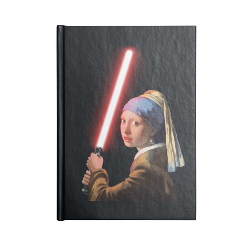 Girl with the Lightsaber Accessories Notebook by steveash's Artist Shop