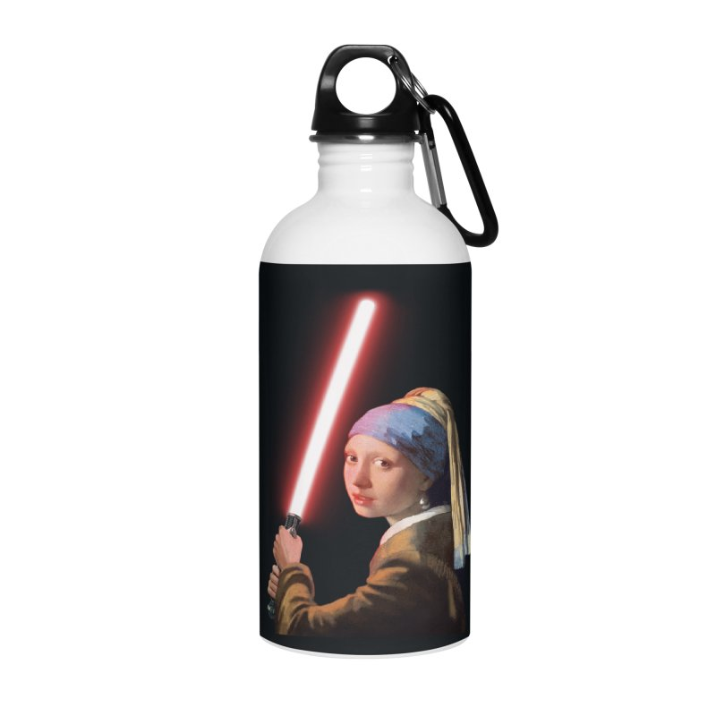 Girl with the Lightsaber Accessories Water Bottle by steveash's Artist Shop