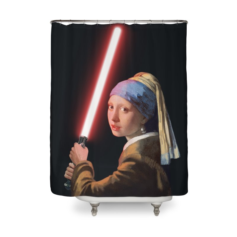 Girl with the Lightsaber Home Shower Curtain by steveash's Artist Shop